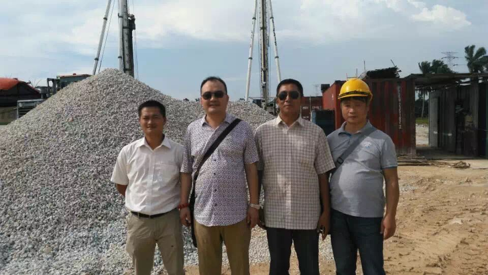 The leadership of BVEM to guide the Malaysia vibroflot construction project